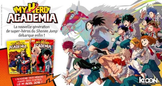 Actu Manga, Ki-oon, Kôhei Horikoshi, Manga, My Hero Academia, Shueisha,