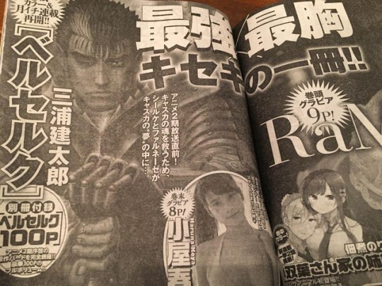 Berserk, Manga, Actu Manga, Kentaro Miura, Young Animal,