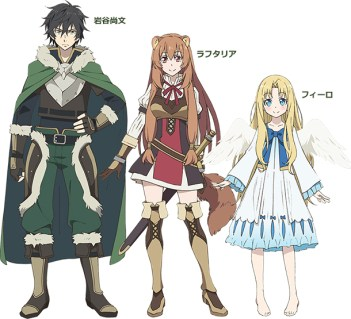 Le studio Kinema Citrus offre un aperçu du chara design de The Rising of the Shield Hero 1