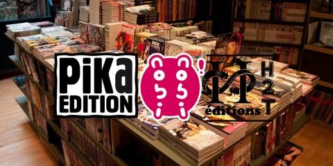 Planning de sorties Pika Edition, Nobi Nobi ! Editions H2T Manga Librairie BD Scope Arrêts de commercialisation