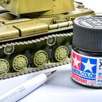 戦車模型の鬼門「プラ製部分分割履帯の塗装」は、タミヤアクリル ダークアイアンの筆塗りで軽やかに突破しよう!!