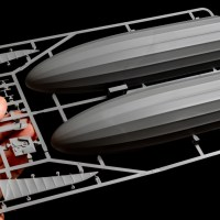 巨大な飛行船のプラモと超微細な金属パーツの話