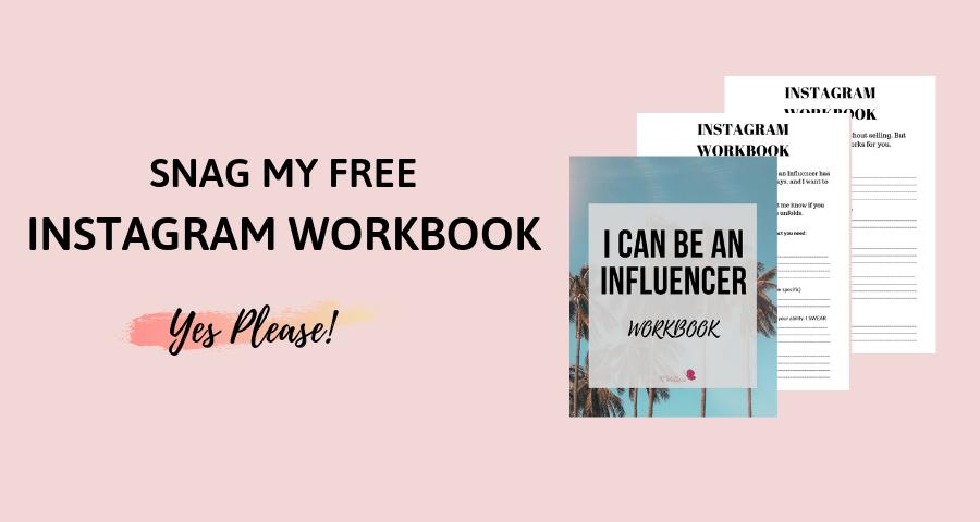I can be an influencer workbook