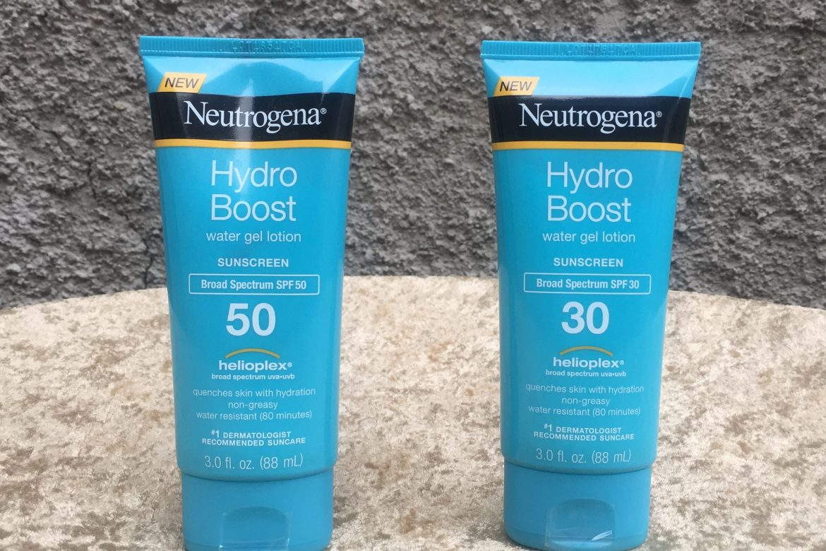 Neutrogena Hydro Boost Water Gel Lotion Sunscreens