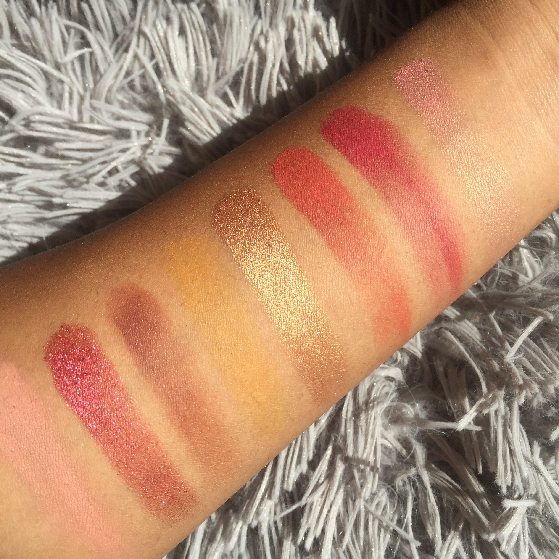 Bretman Rock X colour pop Lit palette swatches- Nique's beauty