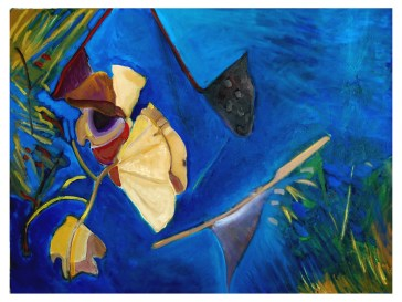 """Water Lily's Dry Leaves - Oil On Canvas - 30""""x40"""" - Price: $2500.00"""