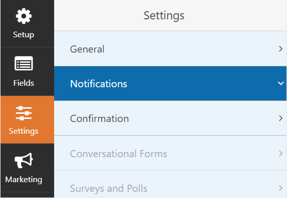 Wp Forms settings signature forms in 3 steps