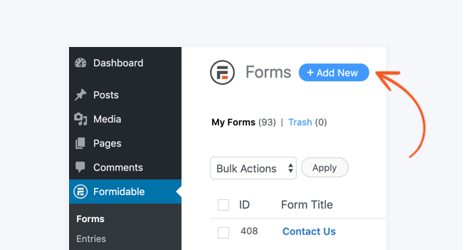 How to Create a Multi-Step Form in WordPress - Add New button