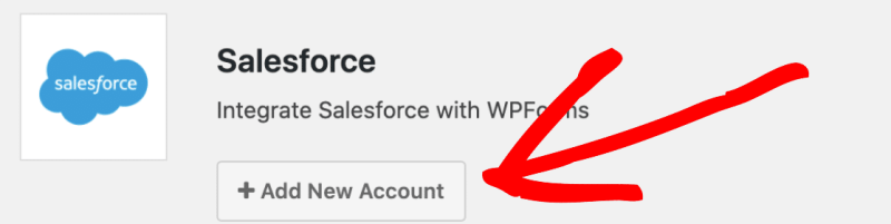 To add new Salesforce Account