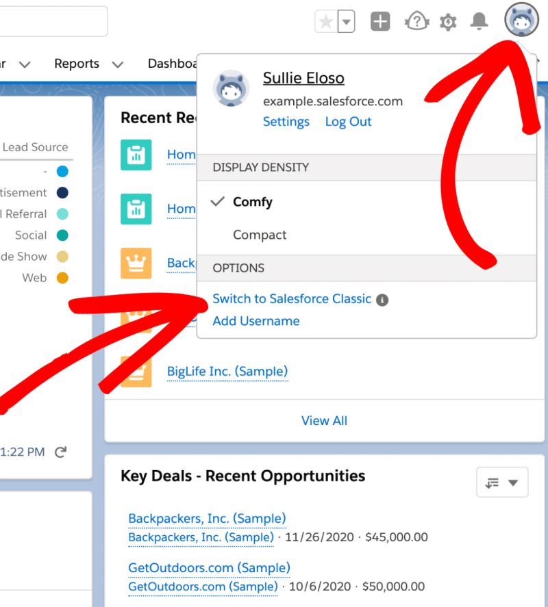 Switch to sales classic - How to Connect WordPress Website Leads And Salesforce