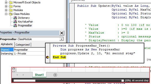 Use Statusbar as Progressbar in Excel VBA - Collections