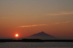 利尻に沈む夕陽