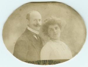 Meine Großeltern Jlius und Margarete Sommerfeld, vermutlich um 1913