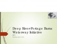 Deep River-Portage Burns Waterway Initiative Update (Jun 2015)