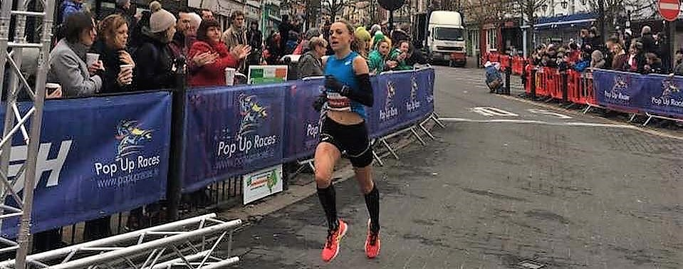 Kerry O'Flaherty impresses with course record and win at Streets of Portlaoise 5k!