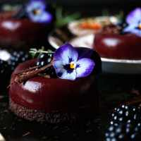 Blackberry Chocolate Savarin (gluten-free & vegan)
