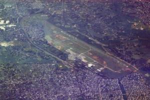 আকাশ থেকে জিয়া আন্তর্জাতিক বিমানবন্দর (নমুনা ছবি)