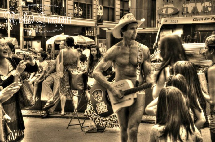 The Naked Cowboy.