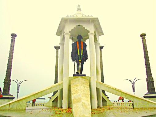 Gandhi statue on the Promenade