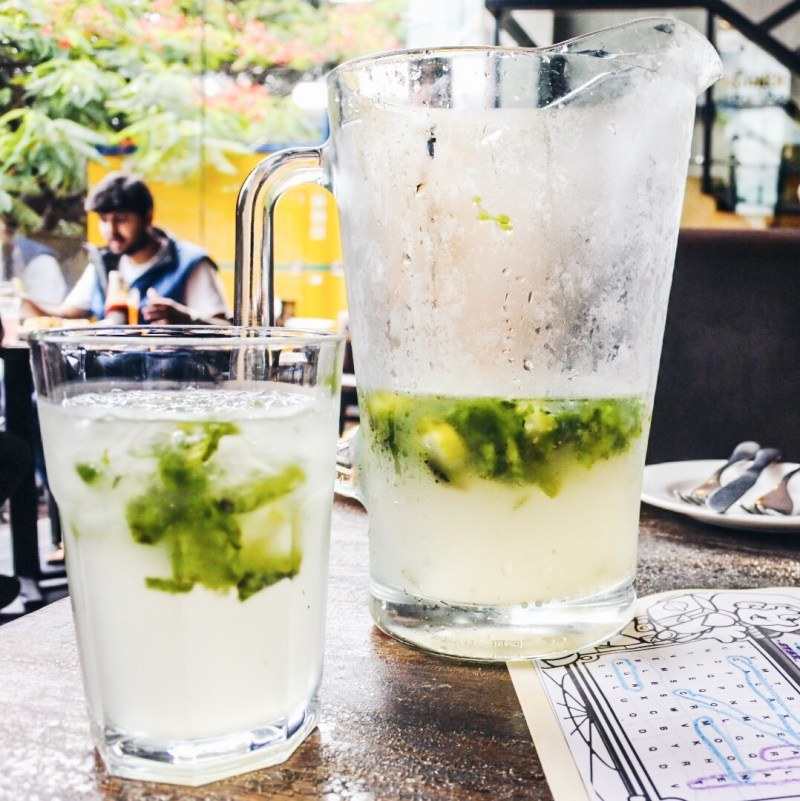 Our mojitos in a pitcher