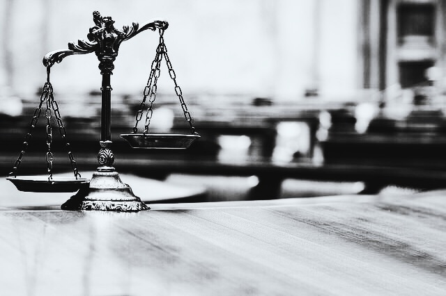 The scales of the law