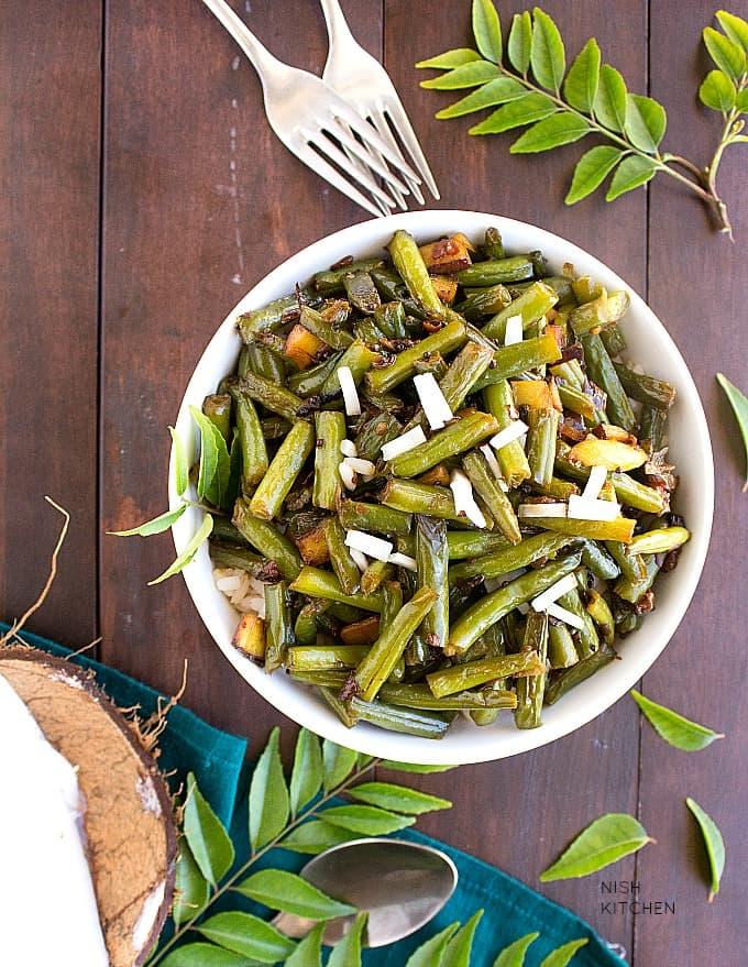 green beans mezhukkupuratti