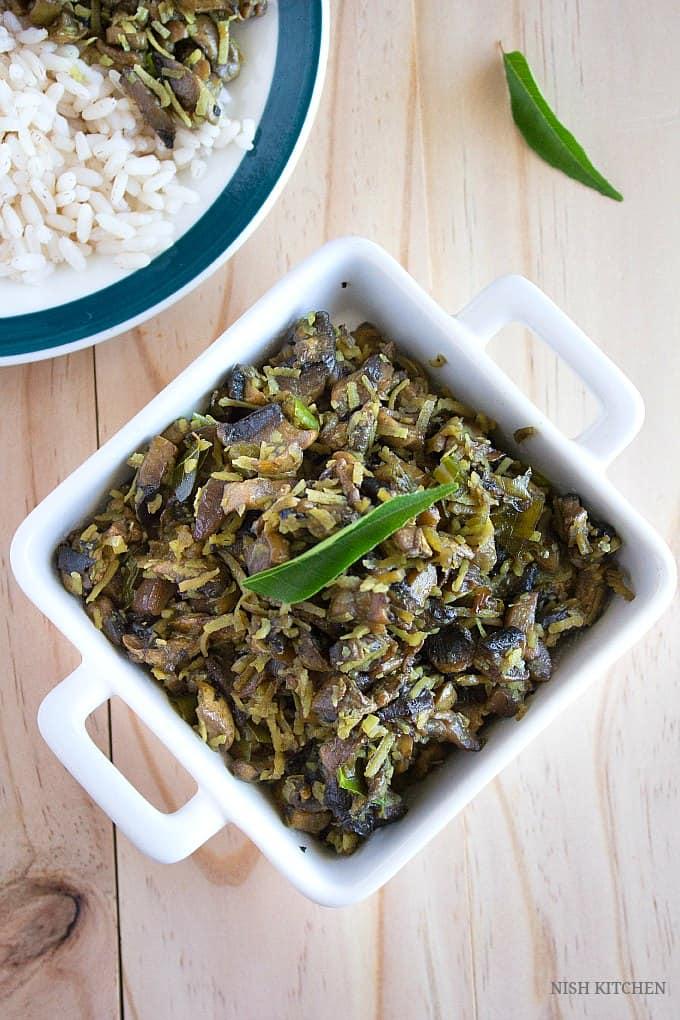mushroom thoran recipe