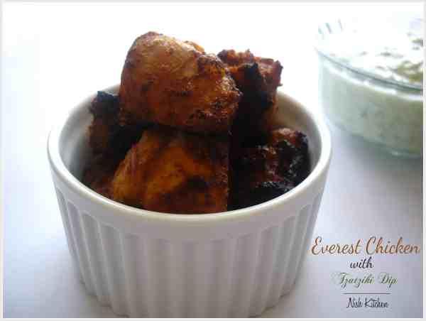 Everest Chicken with Tzatziki Dip