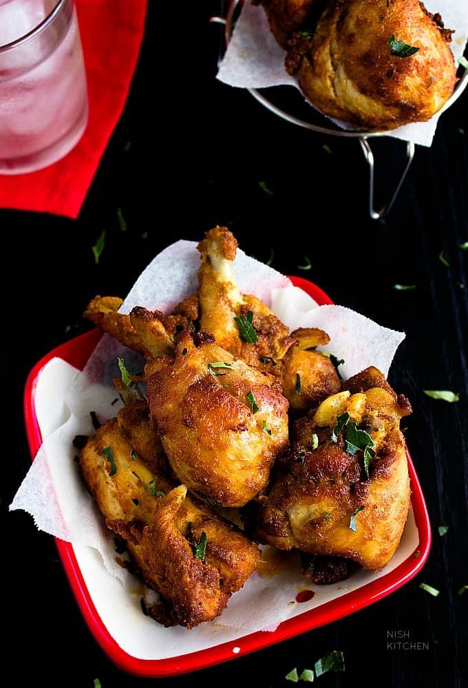 Thattukada chicken fry or indian fried chicken street food style
