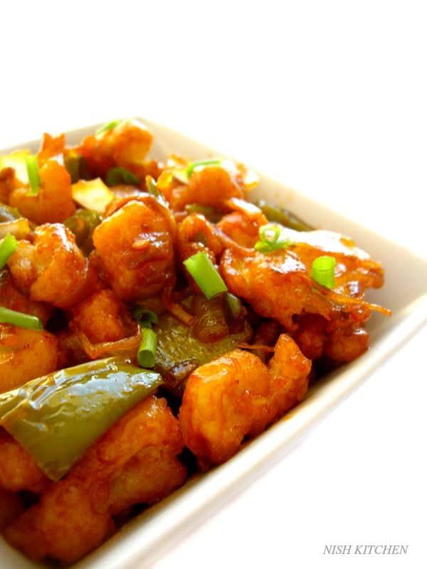 gobi (cauliflower) manchurian | nish kitchen