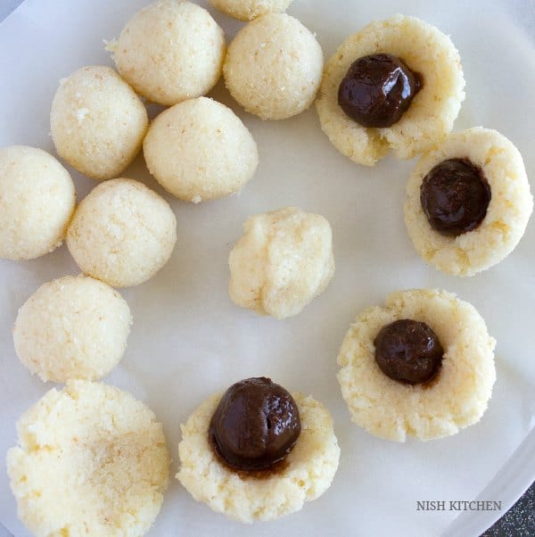 chocolate coconut ladoos recipe