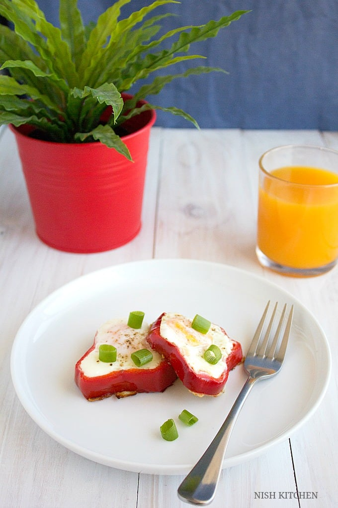 bell pepper egg in a hole recipe