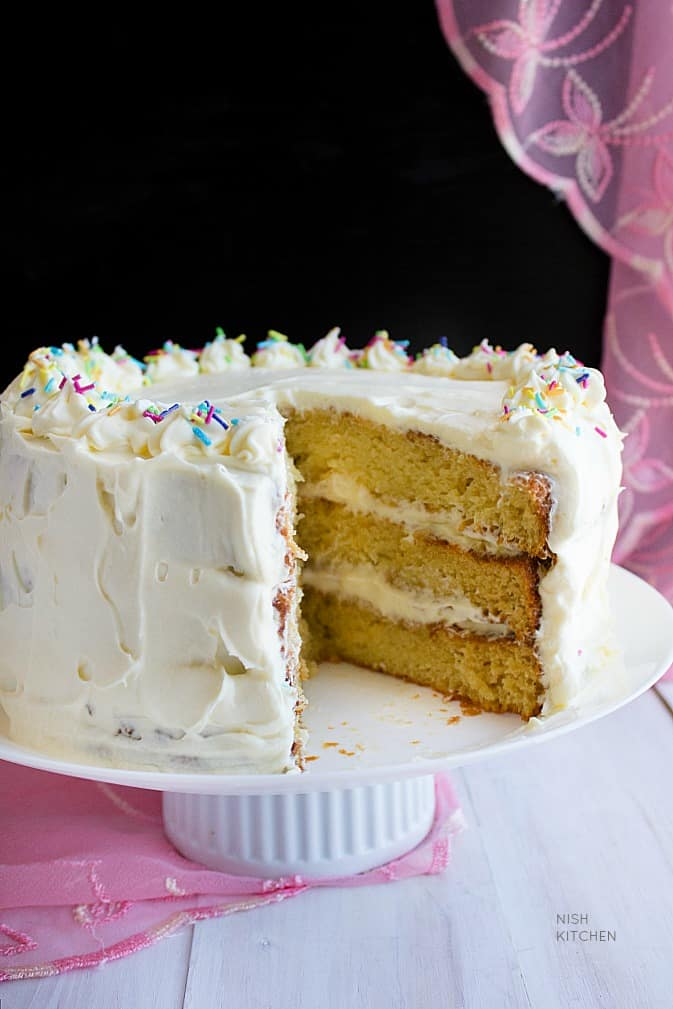 Easy Vanilla Cake Video Nish Kitchen