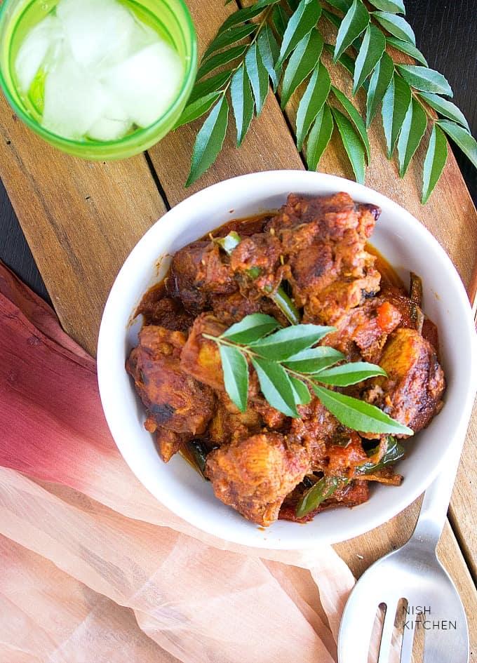 kerala chicken roast - kerala recipes