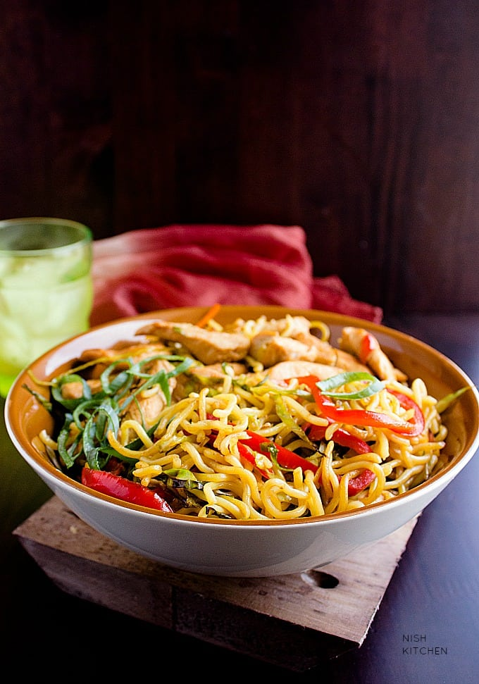 easy chicken chow mein noodles recipe with video