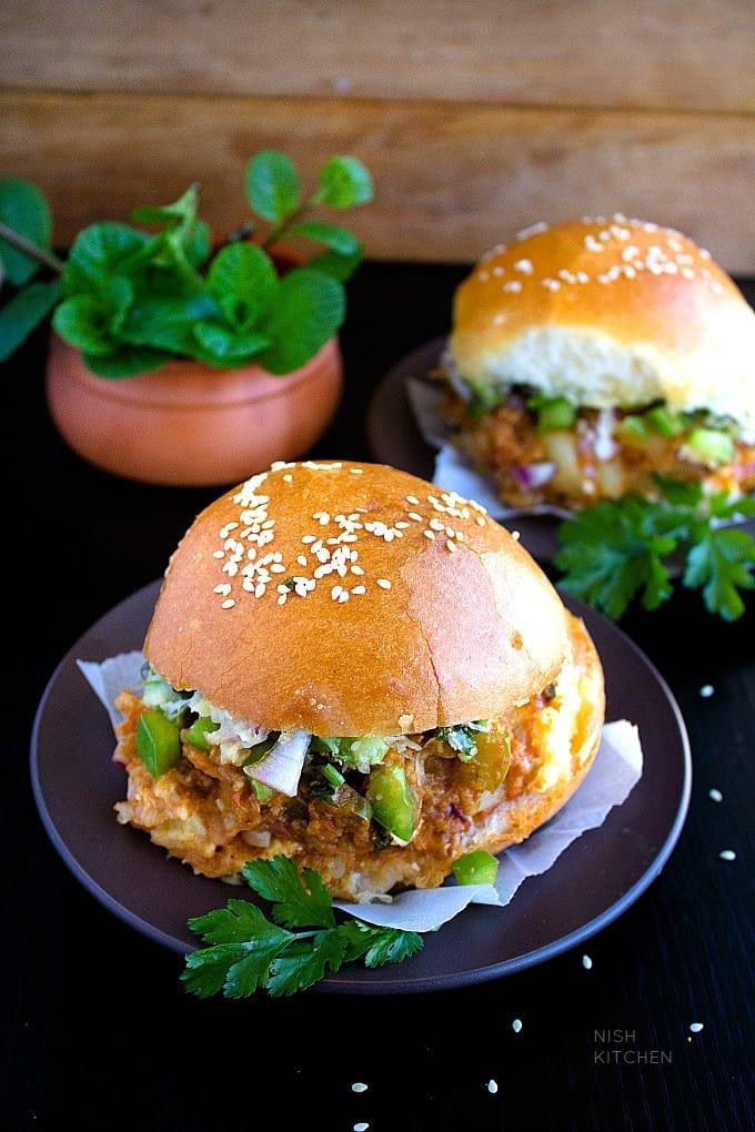 cheesy paneer pav bhaji recipe