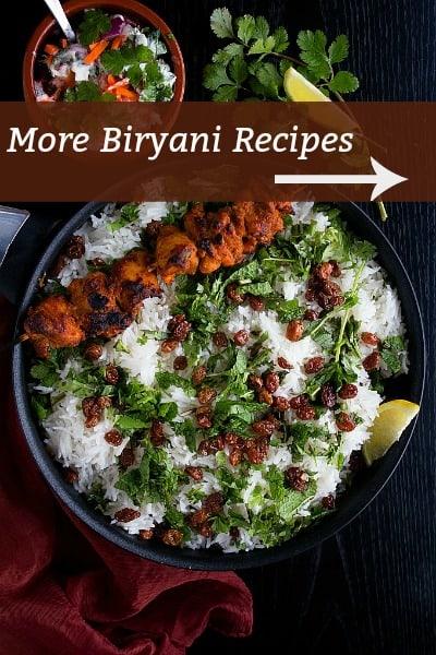 More biryani recipes