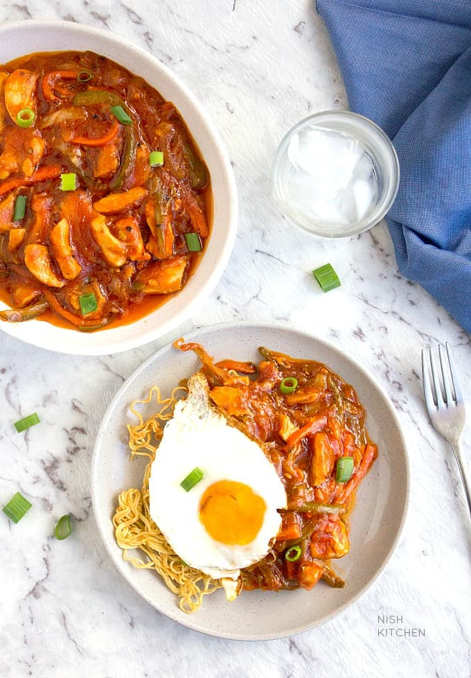 american chopsuey indian style recipe