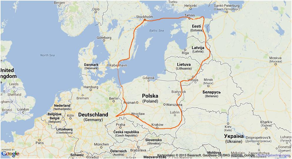 Reise 2013 Karte