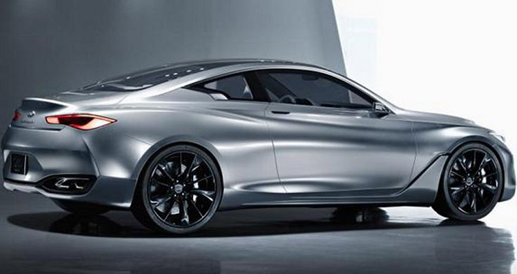 2016 Infiniti Q60 coupe side view