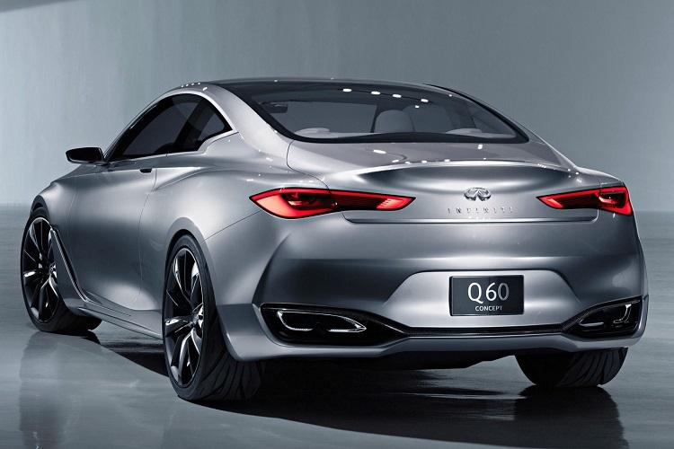 2017 Infiniti Q60 rear view