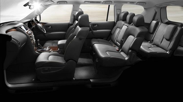 2017 Nissan Patrol interior