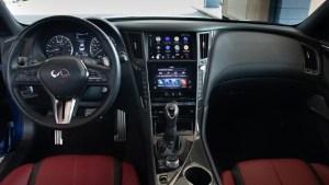 2022 Infiniti Q60 Red Sport Coupe interior