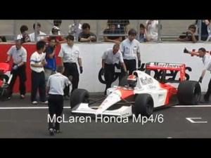 McLaren MP4/6とNissan NP35の V12の比較 comparison