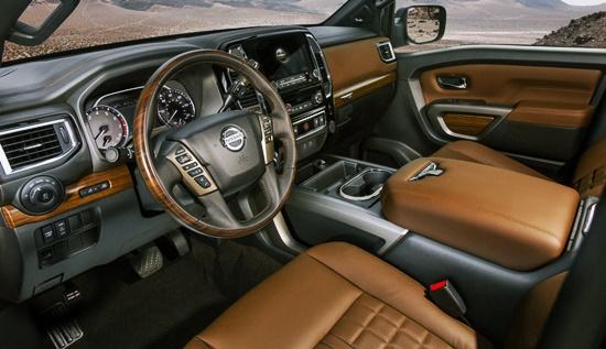 2021 Nissan Titan Platinum Reserve Interior