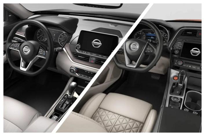2022 Nissan Altima vs Nissan Maxima Interior
