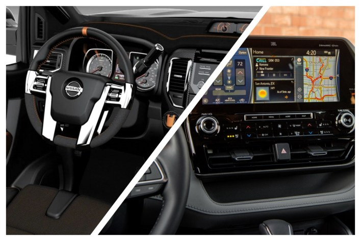 2022 Nissan Titan vs. Toyota Tundra Interior
