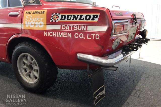 ダットサン ブルーバード 1600SSS 1970年 第18回東アフリカ・サファリラリー総合優勝車