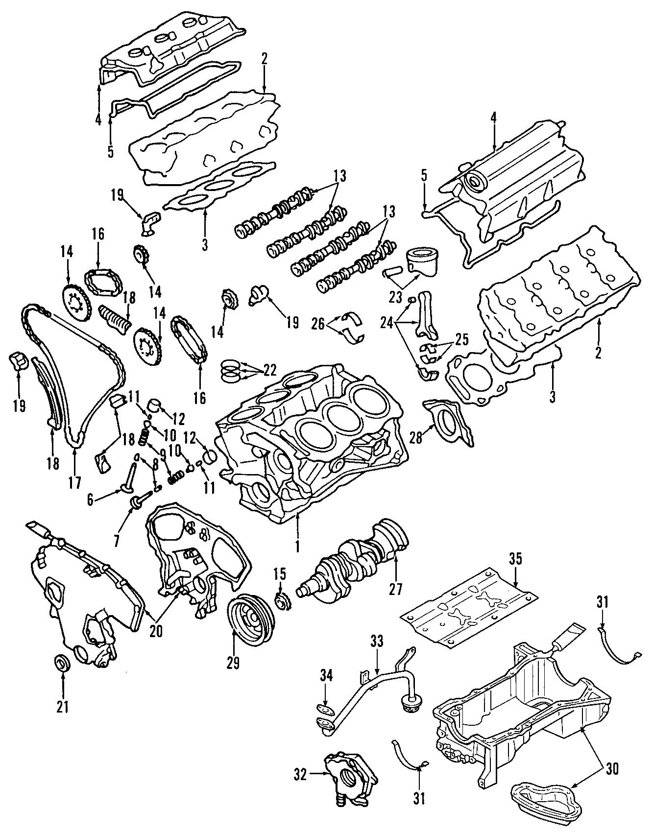 Nissan Quest Engine Camshaft Follower Lifter