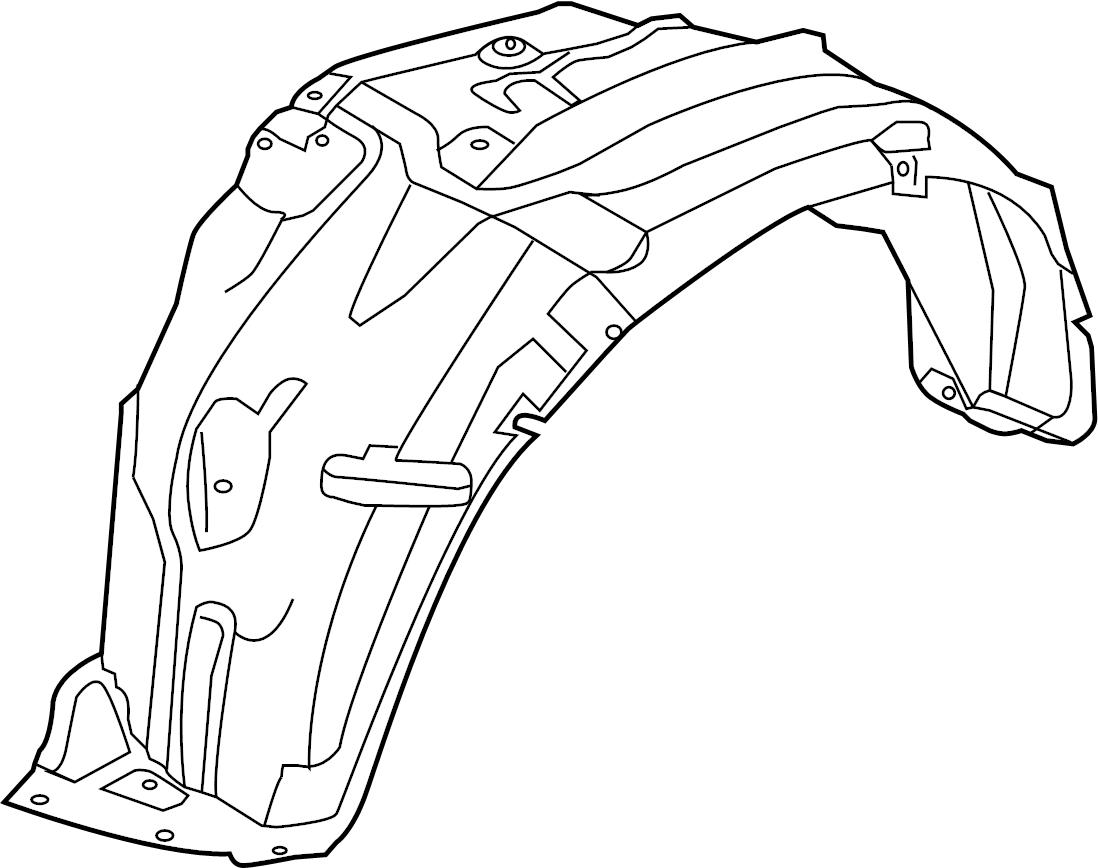 Nissan Armada Fender Splash Shield Right Front